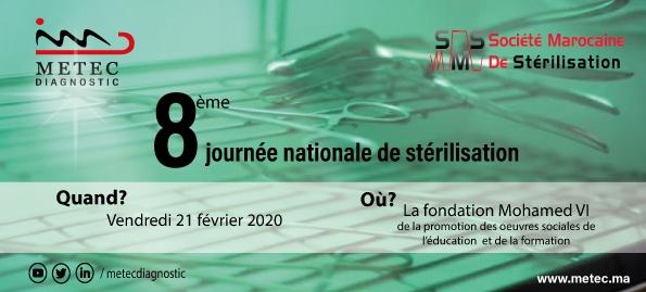 Participation Metec Diagnostic à la 8ème Journée Nationale de Stérilisation