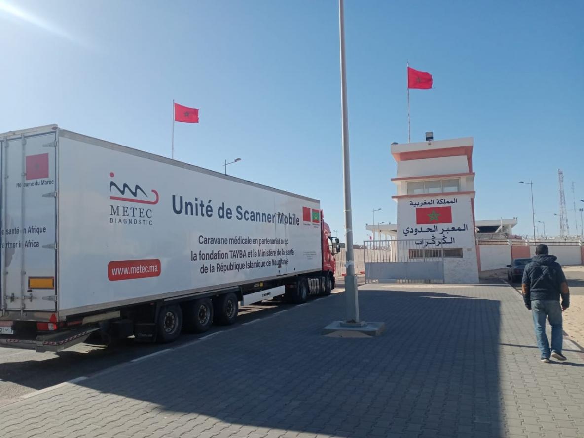 El Guerguarat le 24.03.2021: Départ vers l'Afrique de l'Ouest de la caravane médicale marocaine METEC AFRICA